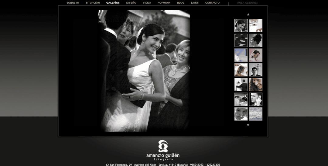 Programación Página web fotografía Amancio Guillén