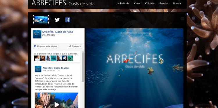 Programación Página web oficial Arrecifes. Oasis de Vida