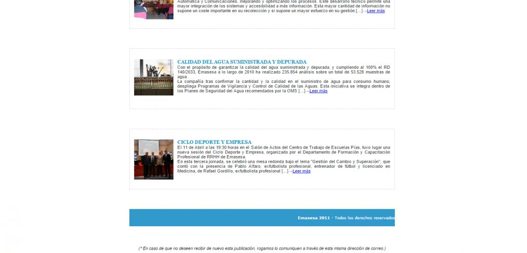 Newsletter Emasesa