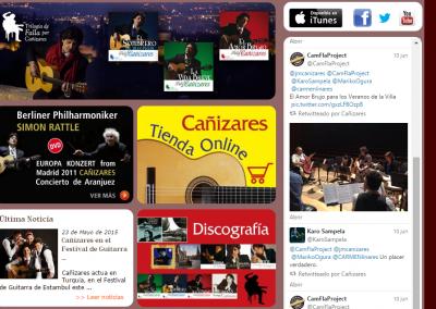 Programación Página web del guitarrista y compositor Juan Manuel Cañizares