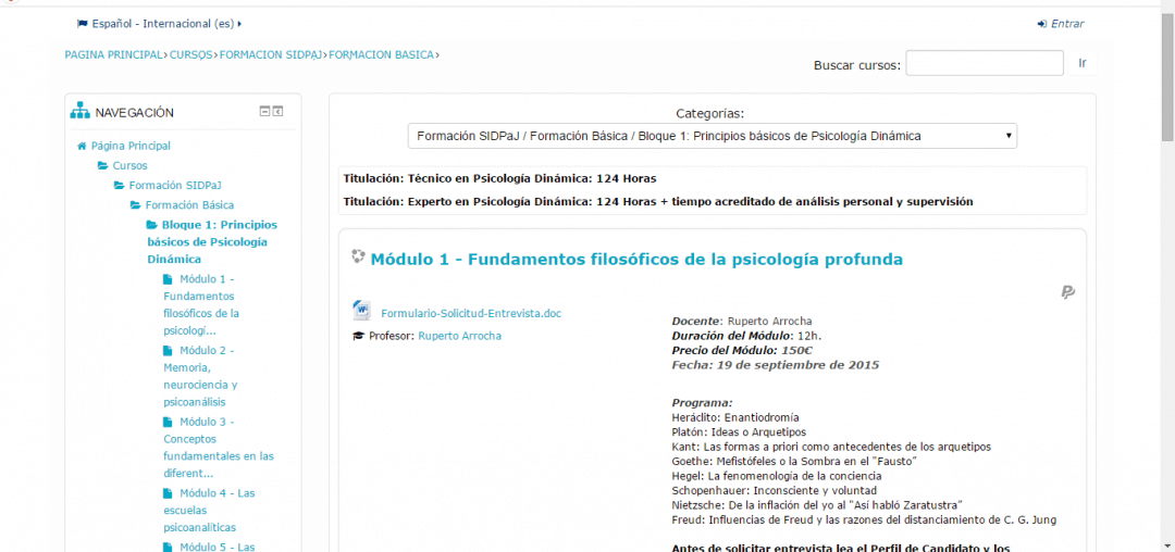 Programación Plataforma de Enseñanza online SIDPaJ