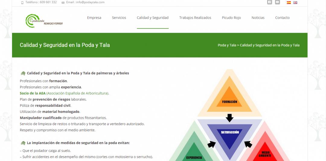 Programación Página web Poda y Tala WP