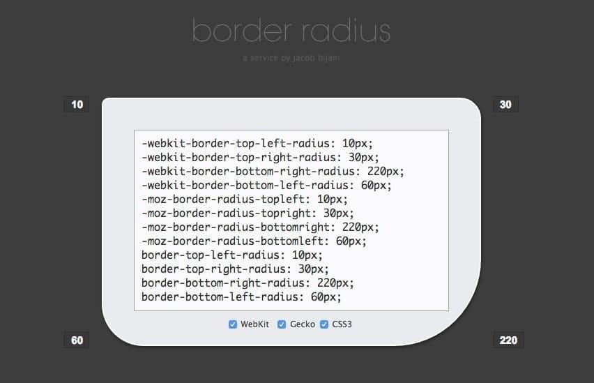 Generador border radius código