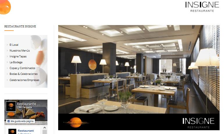 Programación Página web Hotel Ignacio – Restaurante Insigne