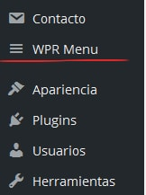 Plugin WordPress menú responsive