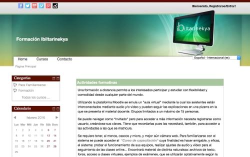 Plataforma de enseñanza online Moodle Ibiltarinekya
