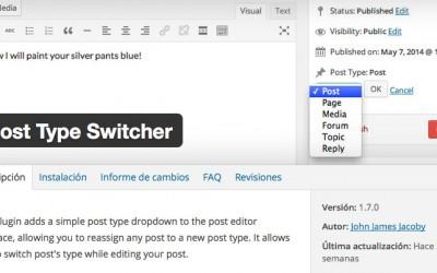Convertir páginas en entradas o entradas en páginas en WP