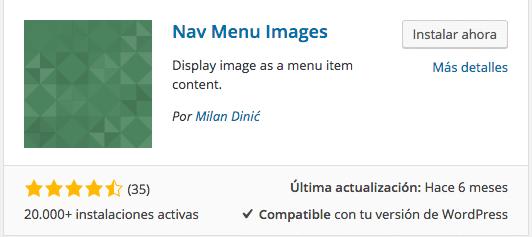 Plugin Nav Menu Images
