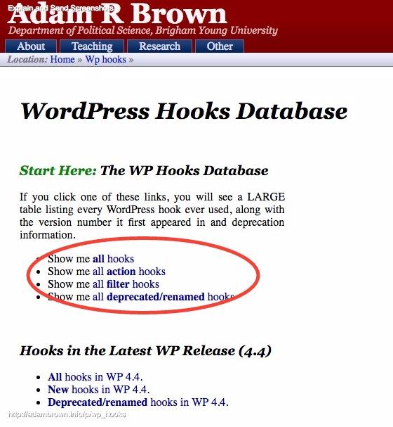 WordPress_hooks_database