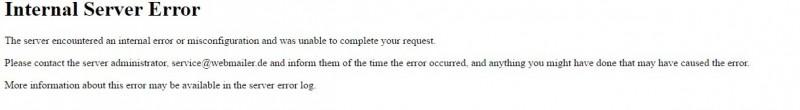 Moodle Internal Server Error