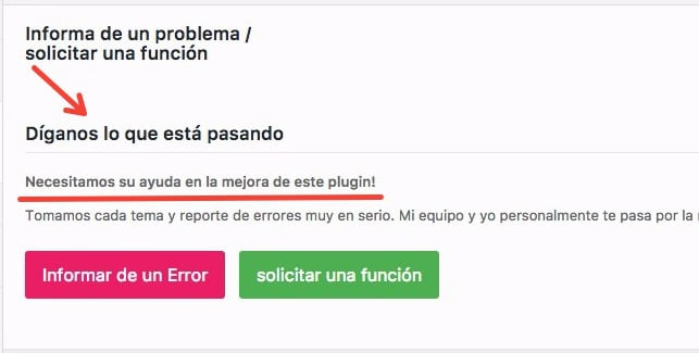 Notificación de errores en AMP for WP