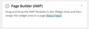 AMP for WP page-builder-area