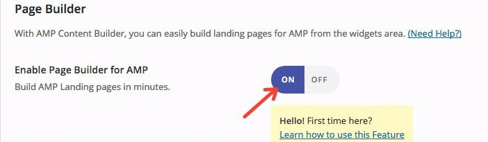 AMP for WP page builder