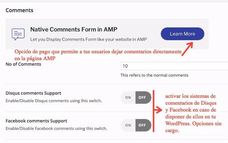 Comentarios-AMPforWP