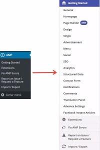 configuración AMP for WP