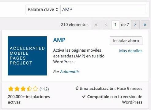 Plugin AMP de Automattic