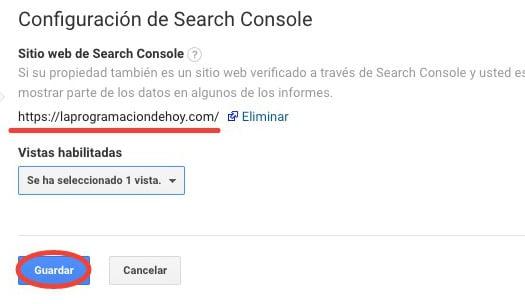 Vincular G Analytics y Search Console
