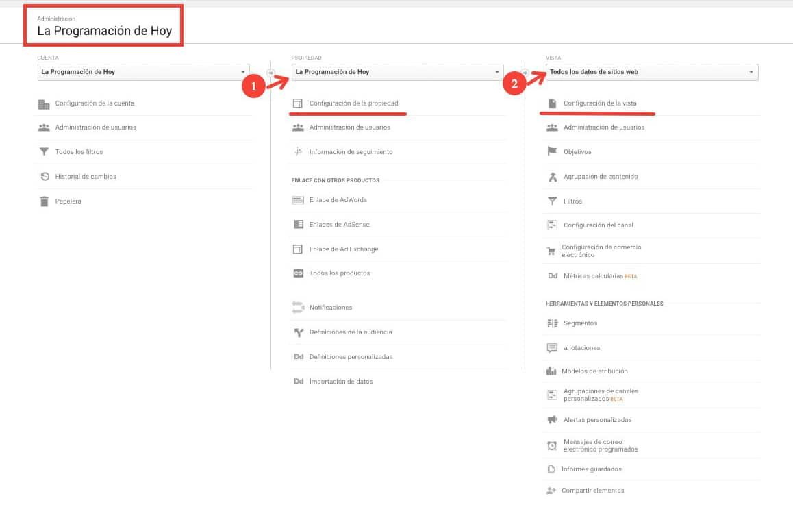 Modificaciones HTTPS en Google Analytics
