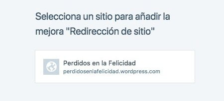 Redireccionar wordpress.com