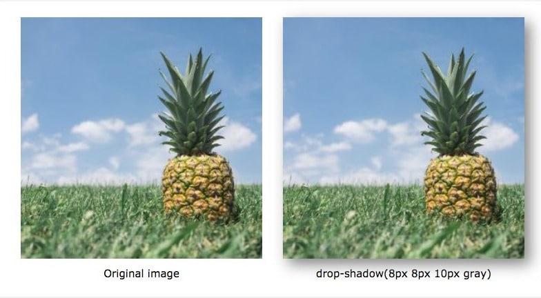 Filtro sombras CSS