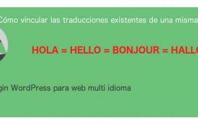 Polylang asociar páginas existentes de distintos idiomas