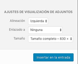 Ajustes de visualización de archivos en WP